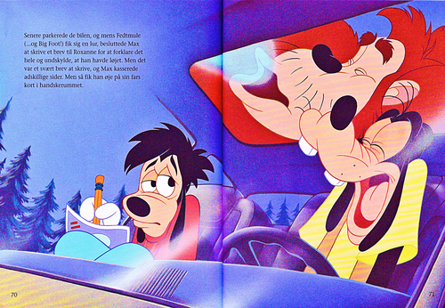 Walt Disney Characters wallpaper entitled Walt Disney Book Scans – A Goofy Movie: The Story of Max Goof (Danish Version)