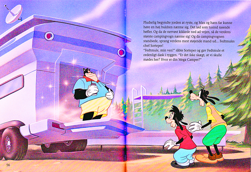 karakter walt disney wallpaper titled Walt disney Book Scans – A Goofy Movie: The Story of Max Goof (Danish Version)