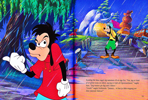 Walt Disney Characters achtergrond titled Walt Disney Book Scans – A Goofy Movie: The Story of Max Goof (Danish Version)