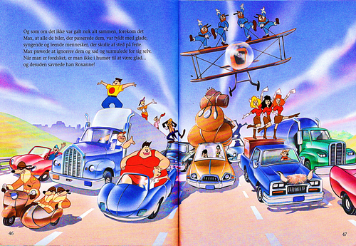 personnages de Walt Disney fond d'écran called Walt Disney Book Scans – A Goofy Movie: The Story of Max Goof (Danish Version)