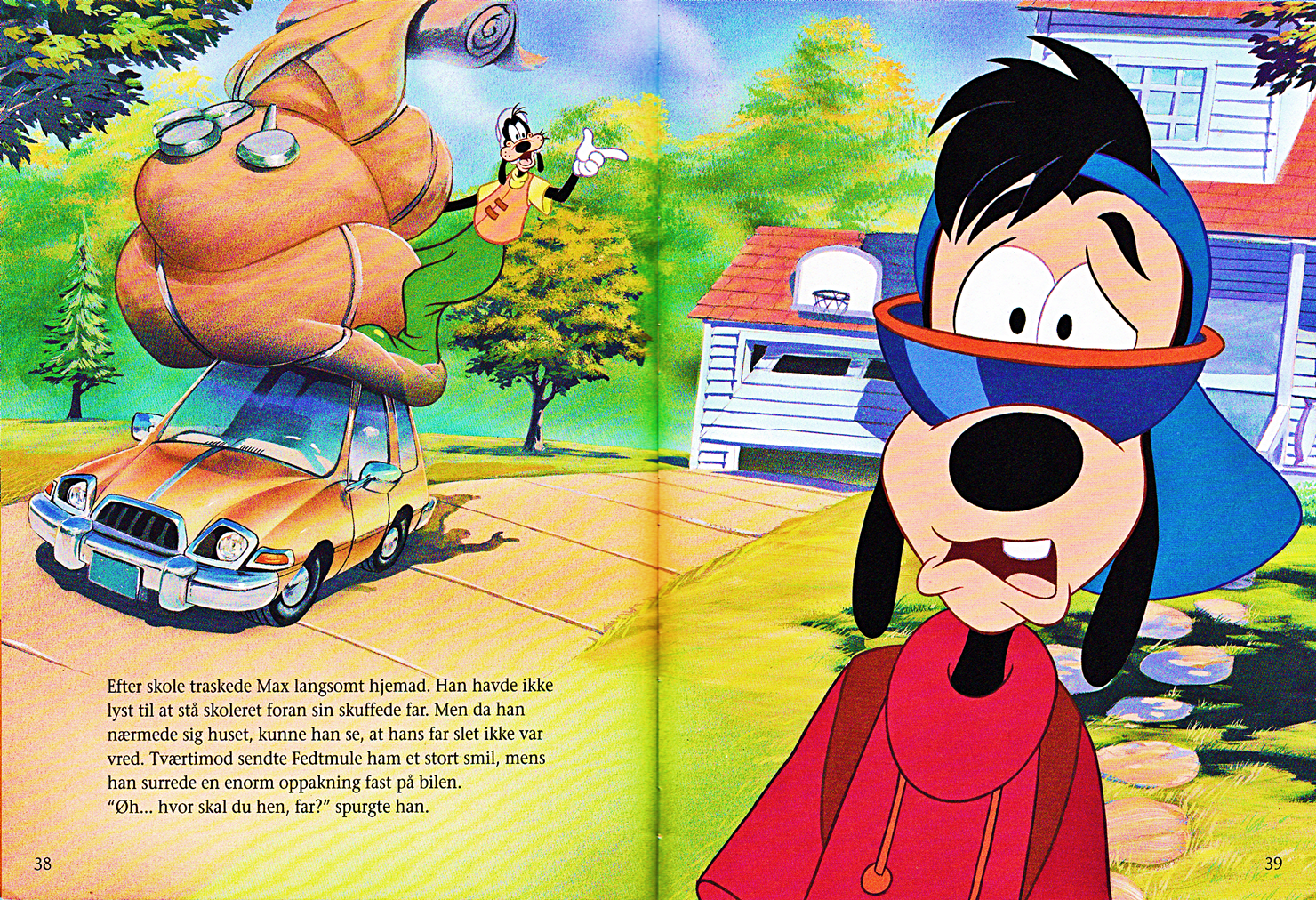 Walt ディズニー Book Scans – A Goofy Movie: The Story of Max Goof (Danish Version)