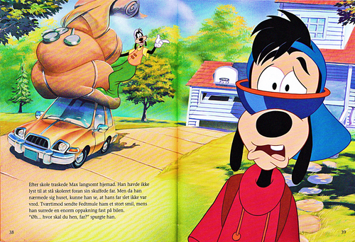 personnages de Walt Disney fond d'écran titled Walt Disney Book Scans – A Goofy Movie: The Story of Max Goof (Danish Version)