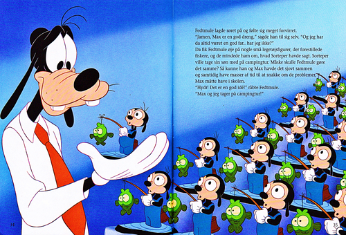 personnages de Walt Disney fond d'écran entitled Walt Disney Book Scans – A Goofy Movie: The Story of Max Goof (Danish Version)
