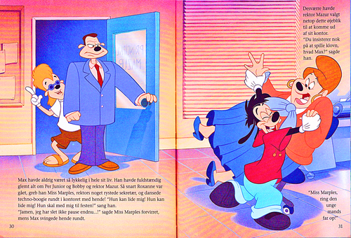 Karakter Walt Disney kertas dinding entitled Walt Disney Book Scans – A Goofy Movie: The Story of Max Goof (Danish Version)