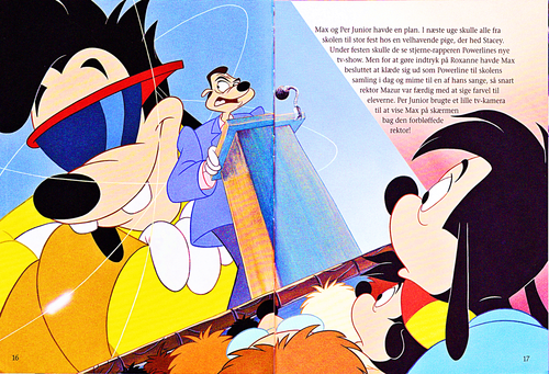 Walt Disney-Figuren Hintergrund entitled Walt Disney Book Scans – A Goofy Movie: The Story of Max Goof (Danish Version)
