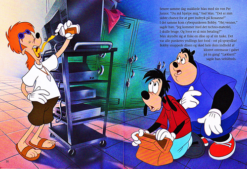 Walt Disney Characters karatasi la kupamba ukuta entitled Walt Disney Book Scans – A Goofy Movie: The Story of Max Goof (Danish Version)