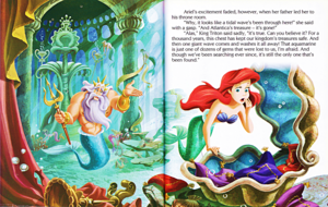 Walt डिज़्नी पुस्तकें – The Little Mermaid: Ariel and the Aquamarine Jewel (English Version)