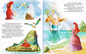 Walt ডিজনি বই – The Little Mermaid: Ariel and the Aquamarine Jewel (English Version)
