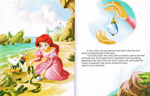 Walt 디즈니 책 – The Little Mermaid: Ariel and the Aquamarine Jewel (English Version)