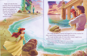 Walt Disney vitabu – The Little Mermaid: Ariel's dolphin Adventure (English Version)
