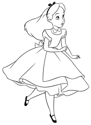 Walt 迪士尼 Coloring Pages - Alice