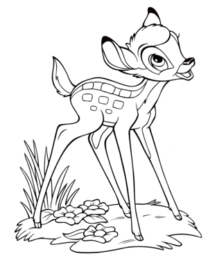 Walt Дисней Coloring Pages - Bambi