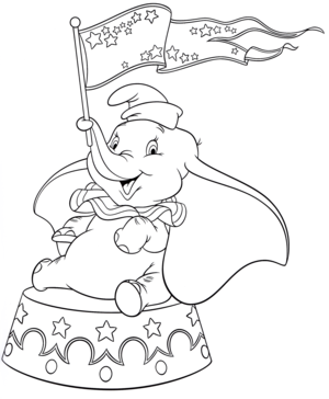 Walt Дисней Coloring Pages – Dumbo