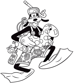 Walt Disney Coloring Pages – Goofy Goof