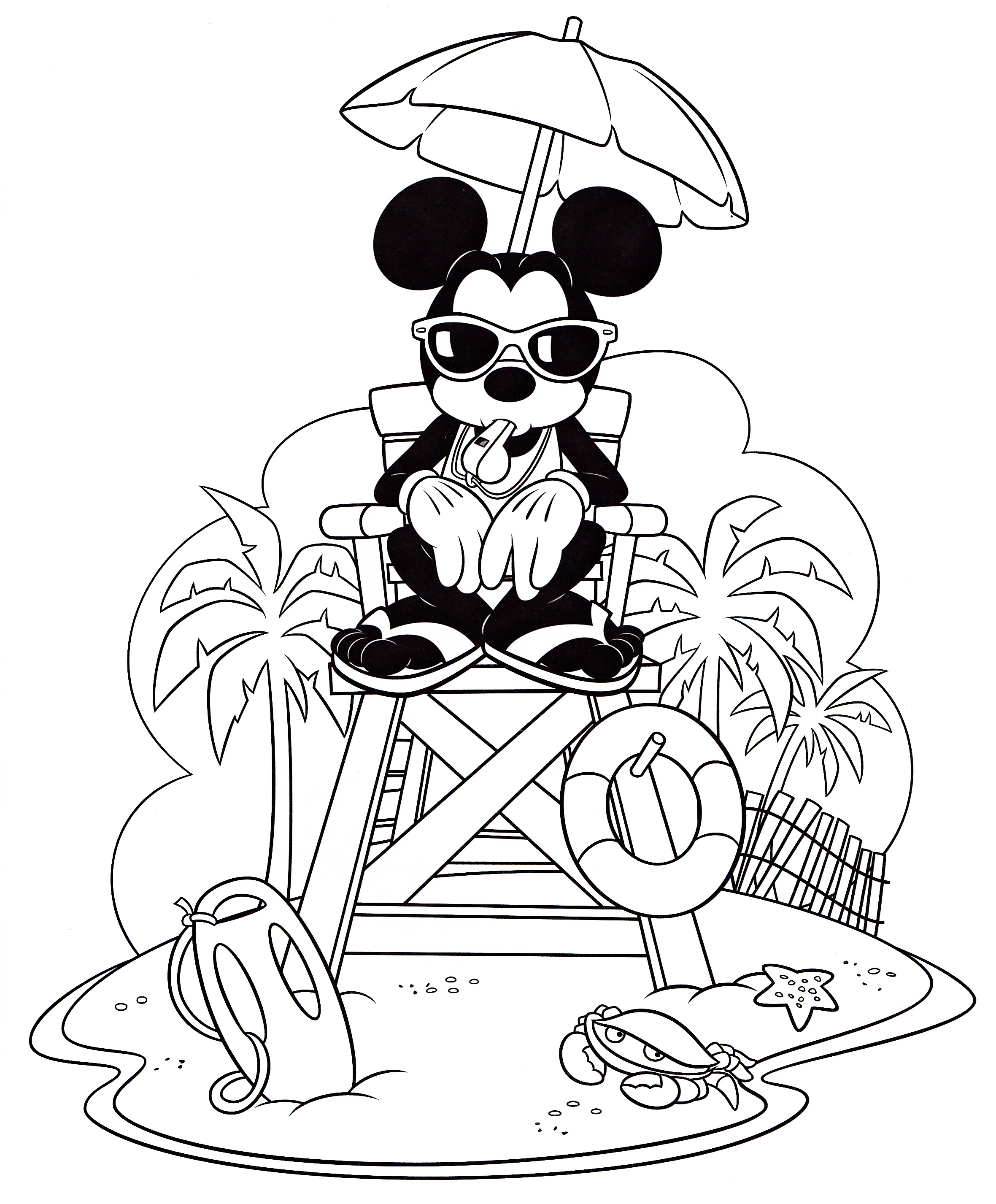 Walt Disney Coloring Pages – Mickey Mouse