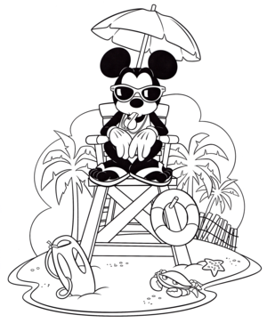 Walt Дисней Coloring Pages – Mickey мышь