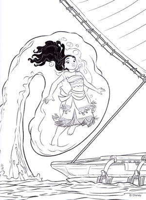 Walt ディズニー Coloring Pages – Moana Waialiki
