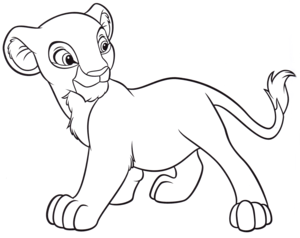 Walt Disney Coloring Pages – Nala