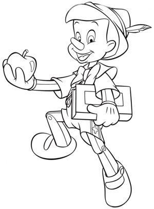 Walt 迪士尼 Coloring Pages – Pinocchio