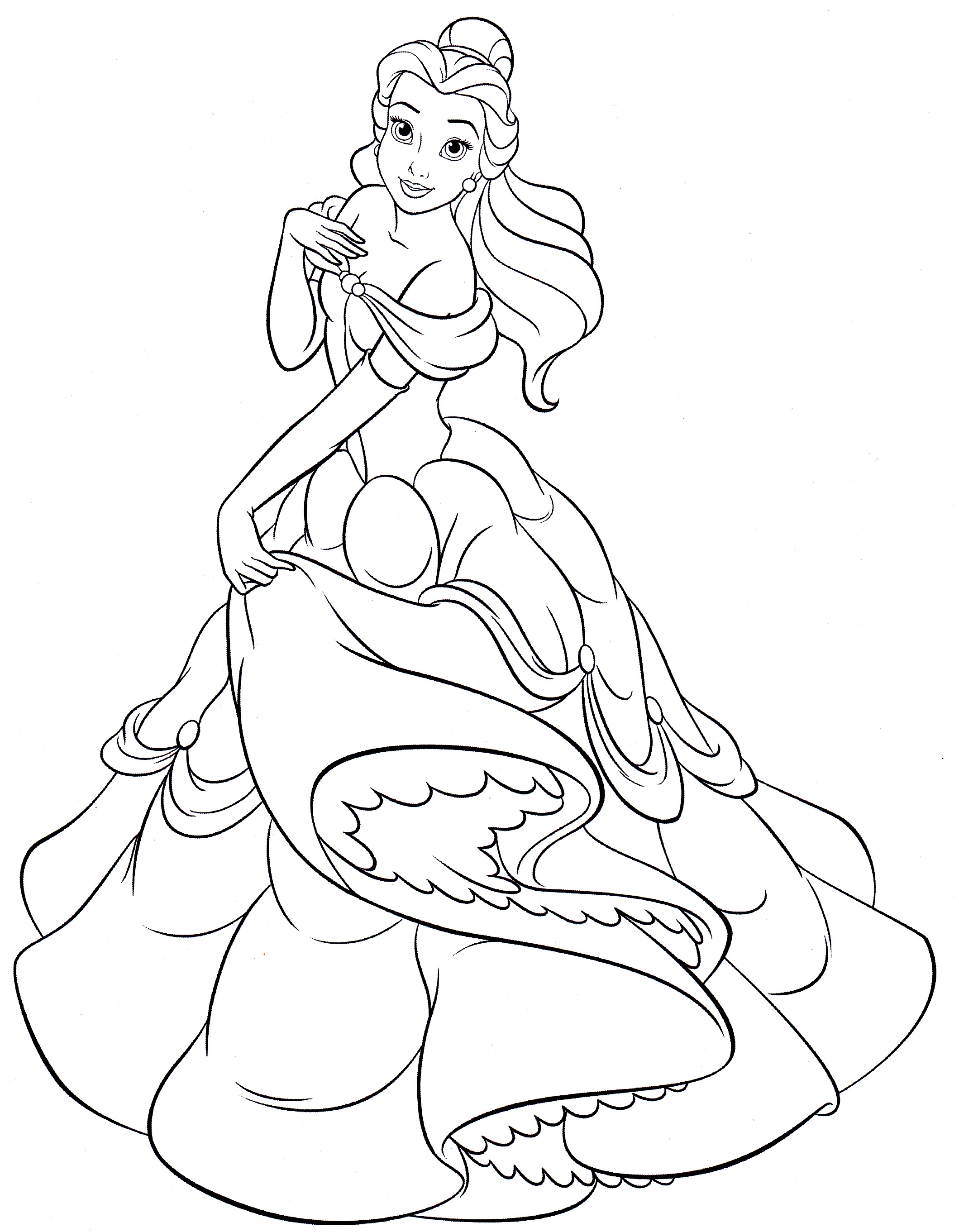 Belle Coloring Page - monesmapyrene.com | 2722x2119