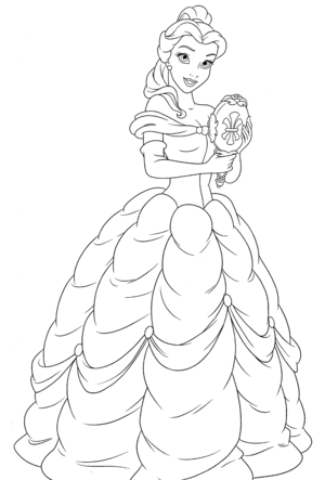 Walt ディズニー Coloring Pages – Princess Belle