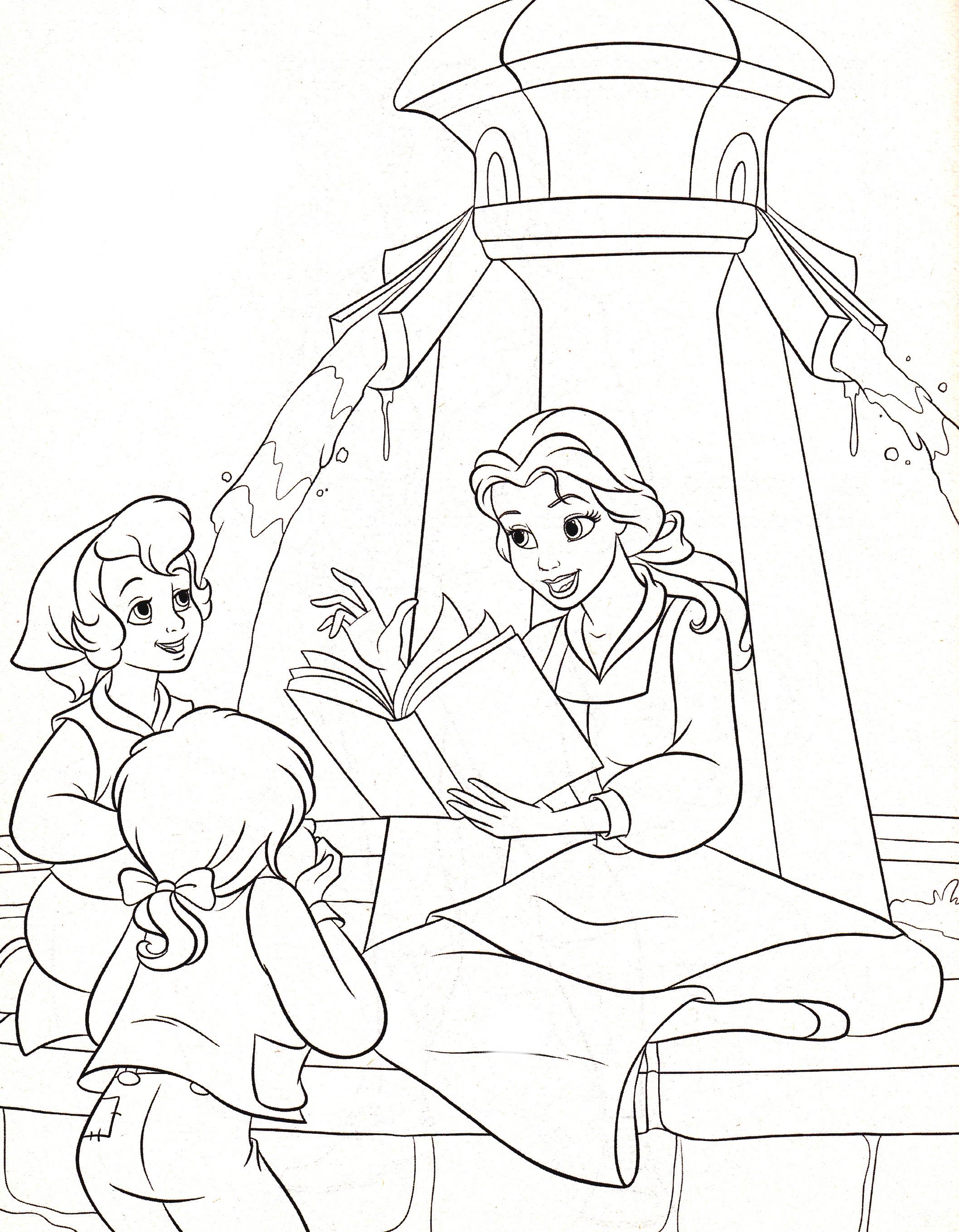 Walt Disney Coloring Pages – Princess Belle