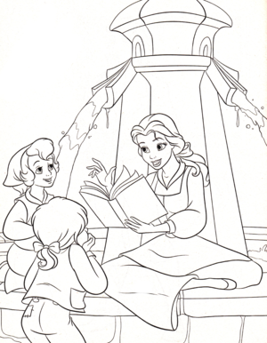 Walt Дисней Coloring Pages – Princess Belle
