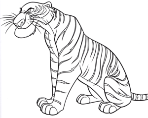 Walt 迪士尼 Coloring Pages – Shere Khan