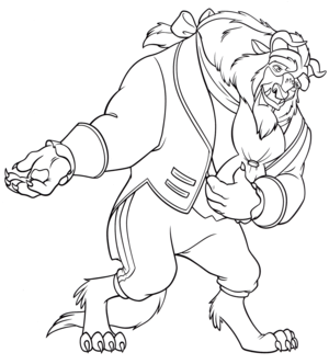 Walt disney Coloring Pages – The Beast