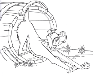 Walt ディズニー Coloring Pages – The Tramp