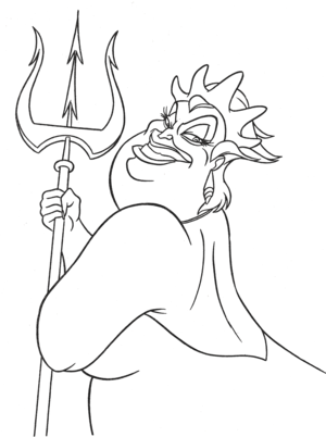 Walt ডিজনি Coloring Pages - Ursula