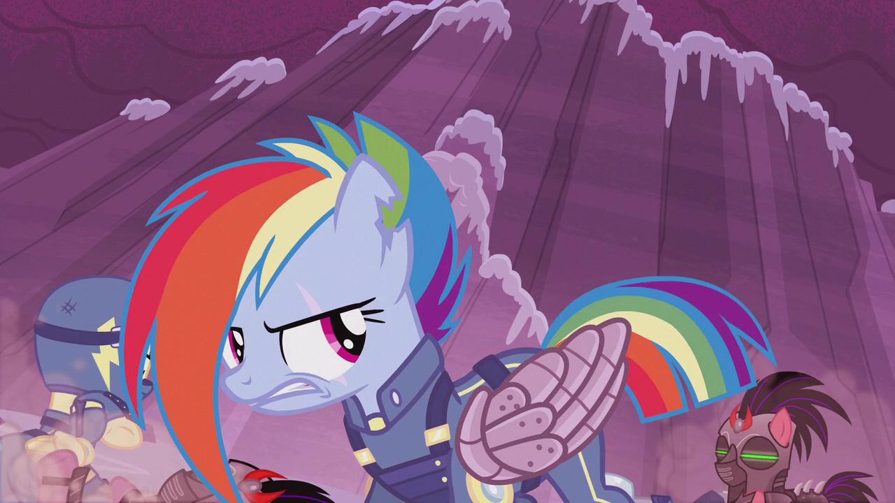 War pelangi, rainbow Dash
