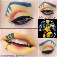 Wolverine Eye Shadow and Lips pt. 1