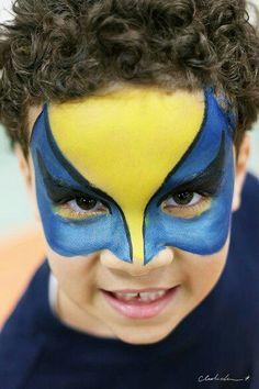 Wolverine Face Paint pt. 1