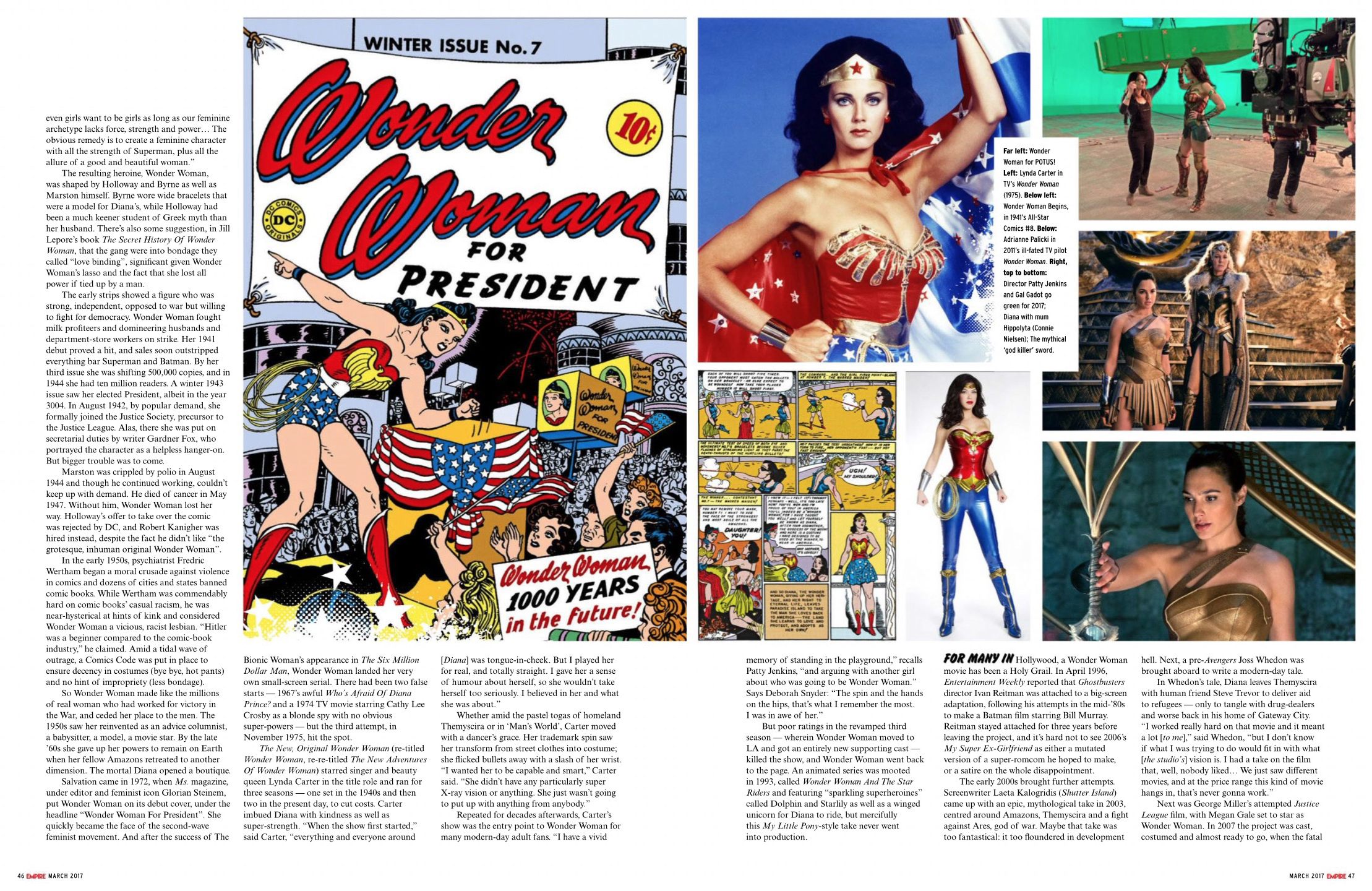 Wonder Woman feature in Empire Magazine - March 2017 [3/4]