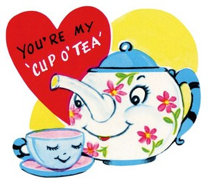You're My Cup Of 茶 (1950's clip art)