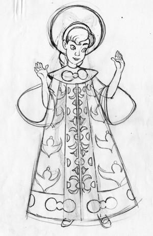 Young Anastasia character designs