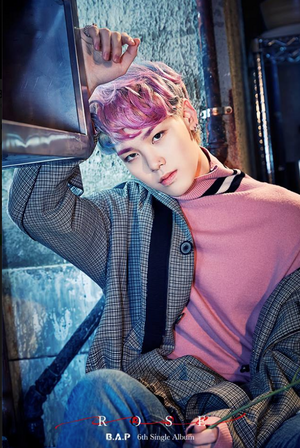 "Zelo teaser image for ""Rose"""