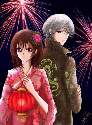 Zero/Yuuki Fanart - New an Celebration
