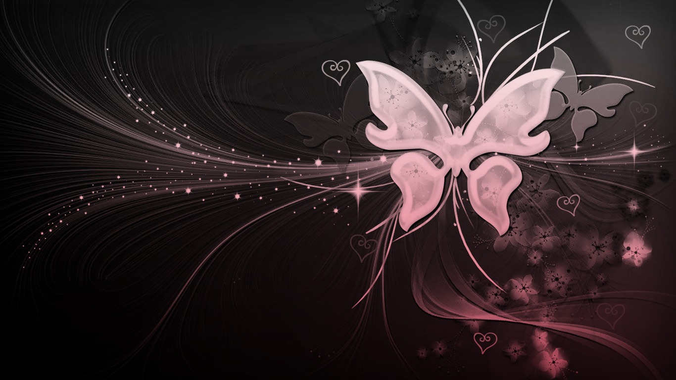 Butterflies Images Pink And Hearts HD Wallpaper Background Photos