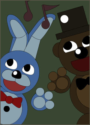 bonnie and freddy poster recreation fnaf 3 par gabrielartdesigns d8tw9ih