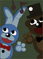 bonnie and freddy poster recreation fnaf 3 door gabrielartdesigns d8tw9ih