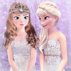 elsa and anna in modern dress
