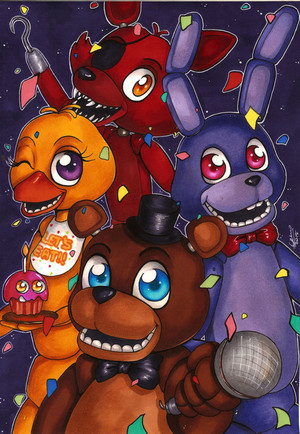 five nights at freddy s poster 1 سے طرف کی forunth d9mh98b