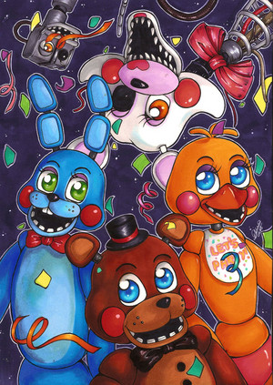 five nights at freddy s poster 2 द्वारा forunth d9mh98o