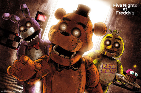 Five Nights at Freddy's karatasi la kupamba ukuta called five nights at freddy s scare