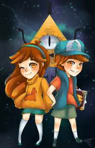 gravity falls dipper mabel and bill by prototypix da002gl copia