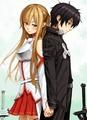 kirito and asuna - sword-art-online photo
