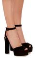 large giuseppe zanotti black lavinia suede sandals - womens-shoes photo