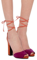 large pierre hardy orange loulou suede sandals - womens-shoes photo